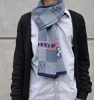 Теплый мужской шерстяной шарф