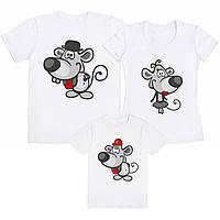 """Семейный комплект футболок """"Мышки"""" (частичная, или полная предоплата)"""