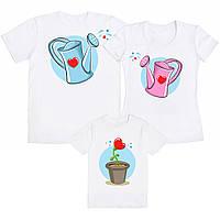 """Семейный комплект футболок """"Лейки и Цветок"""" (частичная, или полная предоплата)"""