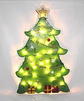 Новогоднее панно «Ёлка», питание от сети 220в, 30 микроламп, праздничное оформление для дома, офиса, витрины