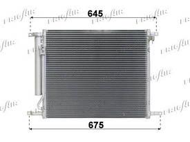 Радиатор кондиционера Chevrolet Aveo 2008- HB (T255) (AVA)