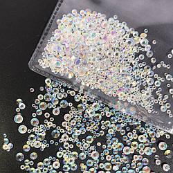 Стразы хамелеоны кристал микс размеров (стекло) 100 шт.