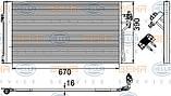 Радиатор кондиционера Mercedes Vito W639 (08-14) (AVA) , фото 2