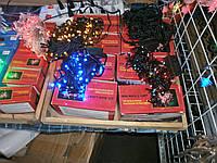 Гирлянда новогодняя 200 ламп черный провод