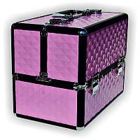 Чемодан металлический раздвижной TJ-255 матово-розовый