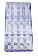 Поликарбонатная форма для шоколада на 28 ячейки