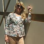 Жакет из легкого джинса , рукав 3/4 на кнопках, фото 8