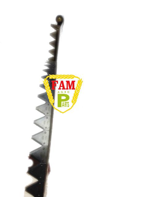 Нож жатки в сборе (заклепка) 6,6м Balmet с фиксатором 670406 + на сегментах Balmet 611203, 670423 Claas