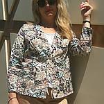 Жакет из легкого джинса , рукав 3/4 на кнопках, фото 3