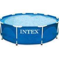 Круглый каркасный бассейн Intex 28200 (305*76 см, 4485 л, синий)
