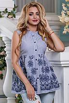 Женская блузка без рукавов расширенная к низу (2628-2627 svt), фото 2