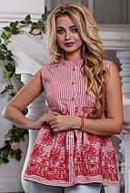 Женская блузка без рукавов расширенная к низу (2628-2627 svt), фото 3
