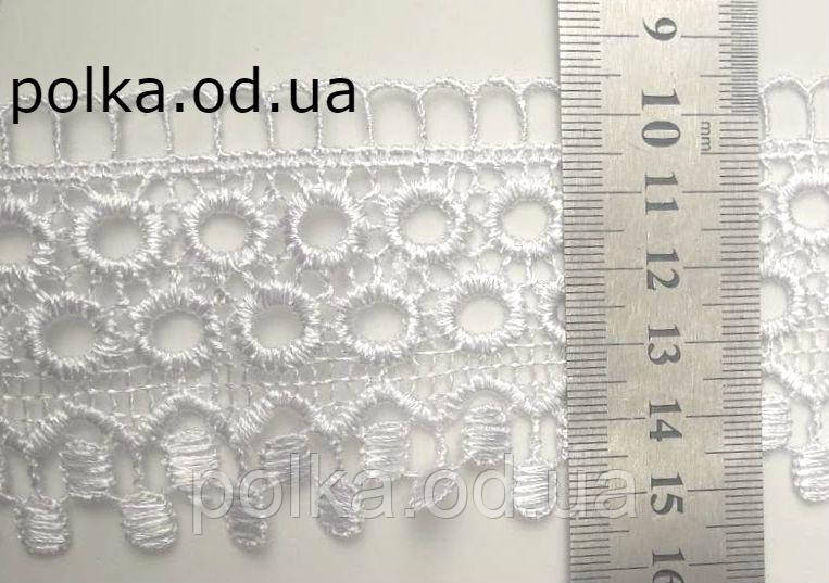 Кружево макраме, ширина 6см, цвет белый