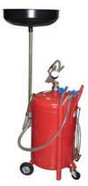 Установка для слива и вакуумной откачки масла с мерной колбой (80л.) G.I. Kraft B8010KVS, фото 3