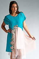 Летнее платье Likara большого размера / трикотаж / Украина 32-716, фото 1