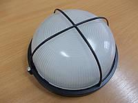 Светильник НПП1108 черный/круг решетка крупная 100Вт, фото 1