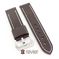 Ремешок для наручных часов Revier ручной работы из натуральной итальянской кожи коричневого цвета 22, 24, 26мм, фото 1
