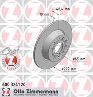 Тормозной диск задний Zimmermann для Octavia A7 1.8TSI