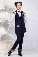 Стильный школьный брючный костюм для девочек 140рост