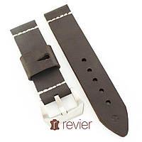 Ремешок для наручных часов Revier ручной работы из натуральной итальянской кожи коричневого цвета 22, 24, 26мм