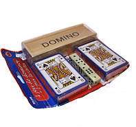 Набор игральный IG-2101(домино,2 колоды карт,5 кубиков)
