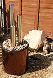 Фонтан Трио из нержавеющей стали высота 100 см, фото 6
