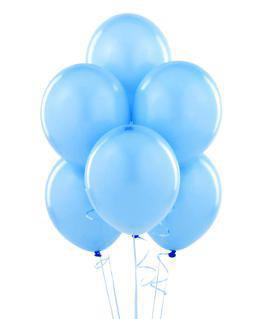 Шар латексный с гелием голубой 30 см.