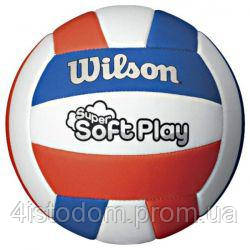 Мяч волейбольный Wilson Super Soft Play White/Blue/Red, фото 2