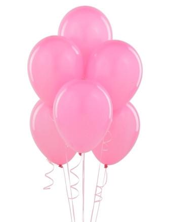 Шар латексный с гелием розовый 30 см