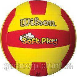 Мяч волейбольный Wilson Super Soft Play Red/Yellow, фото 2