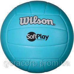 Мяч волейбольный Wilson Soft Play Blue, фото 2