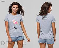 Женская футболка с аппликацией / вискоза / Украина, фото 1