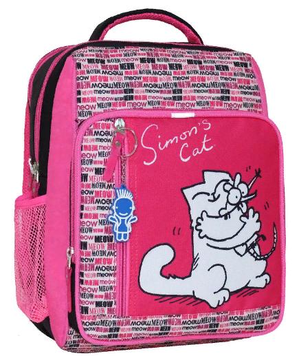 1c8f653383ea Школьный ортопедический рюкзак Bagland Simon розовый черный -  Интернет-магазин
