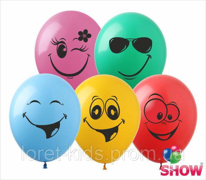 Воздушные шарики смайлики группа - 4 ТМ Show