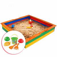 Песочница детская деревянная цветная SportBaby