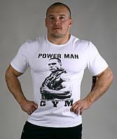 Белая футболка мужская для бодибилдеров
