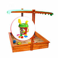 Детская песочница деревянная с крышей SportBaby