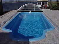 Стационарный стекловолоконный усиленный бассейн 7,0х3,2 глубиной 1,5м.