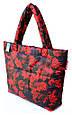 Женская сумка POOLPARTY pp4-red-leaves черная, фото 2