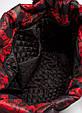 Женская сумка POOLPARTY pp4-red-leaves черная, фото 3