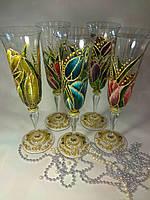 """Праздничные бокалы """"Тюльпаны"""" для шампанского"""