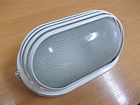 Светильник НПП1207 белый/овал ресница 100Вт, фото 1