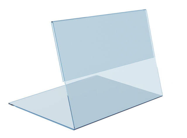Ценник пластиковый горизонтальный 75х60 мм ценникодержатель, фото 2