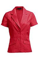 Пиджак коралловый с коротким рукавом летний ELLOS, Размер: 38 (M)