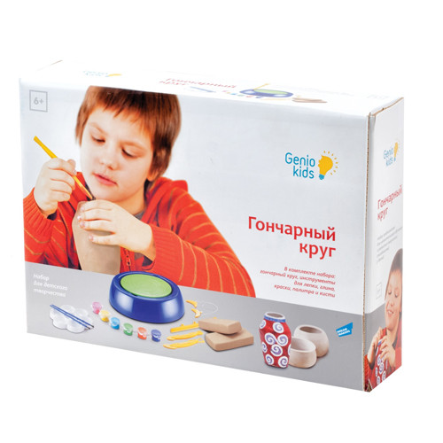 Набор для детского творчества Гончарный круг Genio Kids (Dream Makers арт. 103)