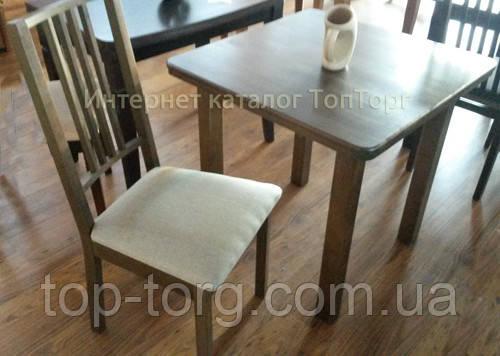 Комплект Смарт-2 Стол+2стула. Цвета: темный орех, бук натуральный