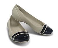 Балетки женские литые туфли Кроксы Кап Той / Crocs Women's Cap Toe Flat