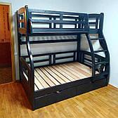 """Двухъярусная кровать семейного типа """"Мария""""с ящиками бортиками"""