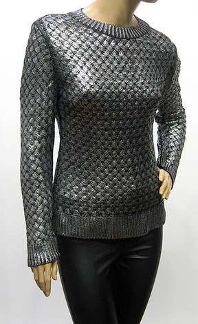 Жіночий вязаний джемпер із срібним напиленням Portofino, фото 2