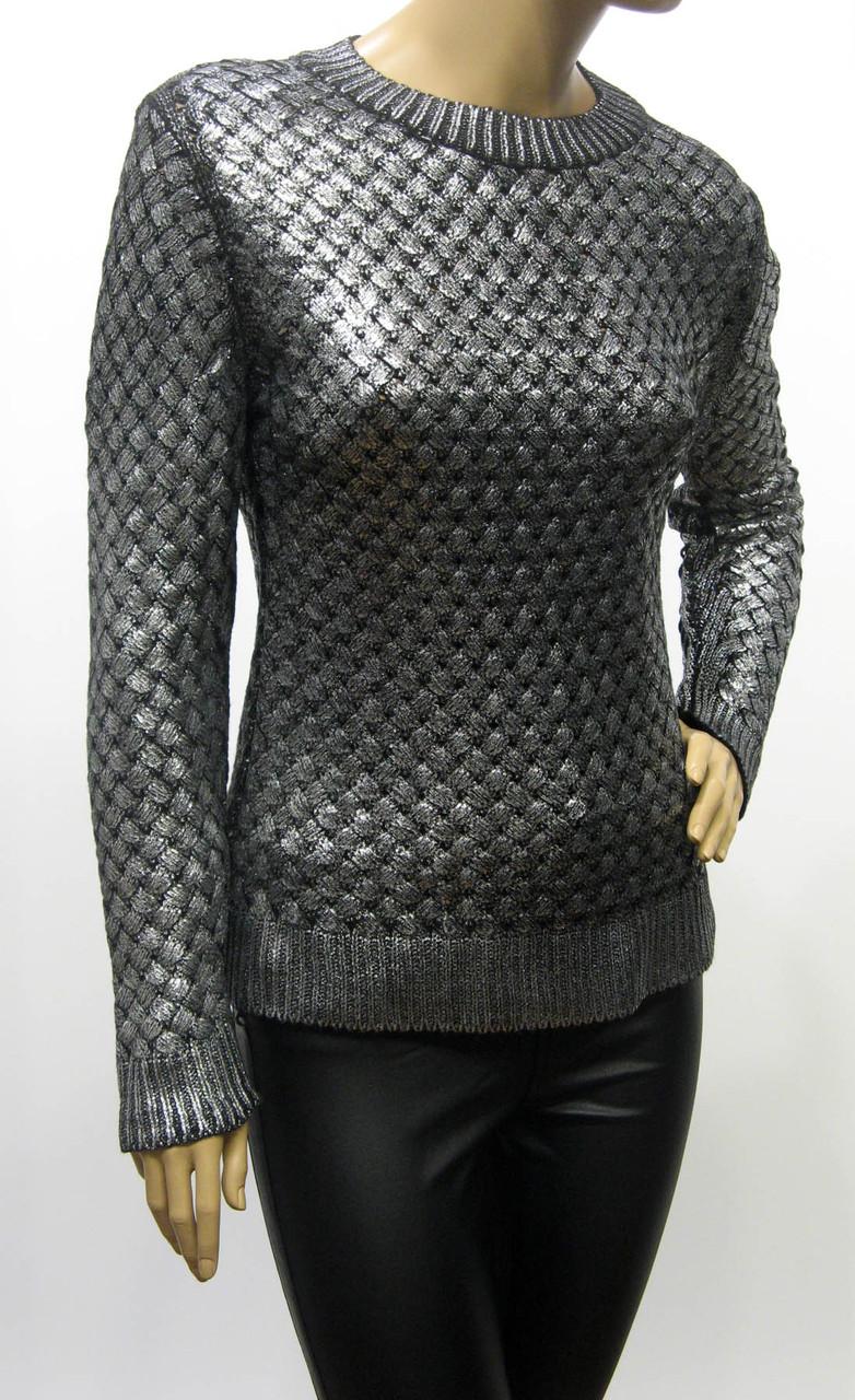 Жіночий вязаний джемпер із срібним напиленням Portofino